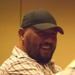 Closeup of HeroClix player Frank Martinez smiling