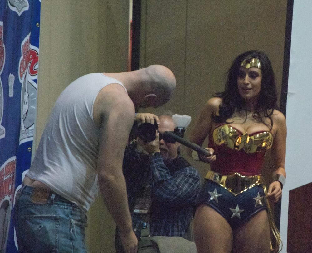Valerie Perez dressed as Valerie Perez Wonder Woman