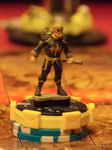 Customized Marvel HeroClix of Iron Fist in Justin Jimenez's collection