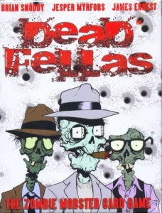 Deadfellas Zombie Mobster Card Game box cover with designers