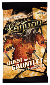 Kaijudo Quest for the Gauntlet booster pack cover emphasizing Draft compatibility